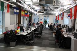 El área internacional de la compañía. Foto: Cortesía Facebook