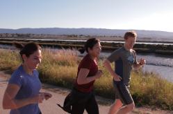 Empleados de Facebook salen a hacer jogging. Foto: Cortesía Facebook